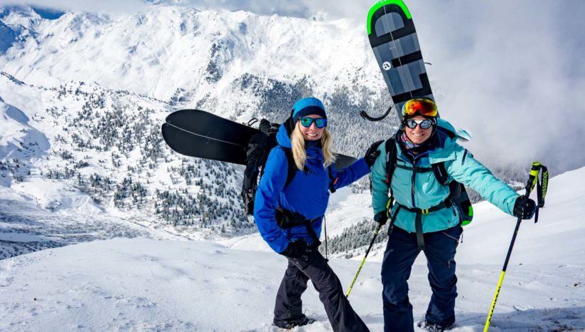 Blue Tomato presents Choice Split & Freeride Camps 2017: Fresh powder and bluebird for the first Camp at Axamer Lizum